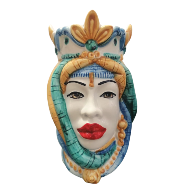 ceramiche di caltagirone testa di moro donna
